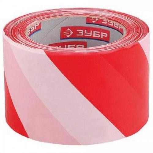 Лента сигнальная 70х200м, красно-белая