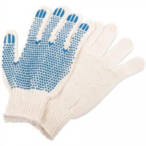 Перчатки хлопчатобумажные с ПВХ, трикотажные