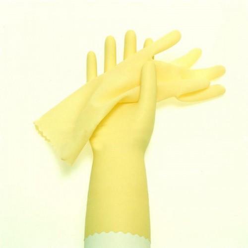 Перчатки резиновые UC1 арт. RBUC101, 30 см, 0,4 мм, S- размер