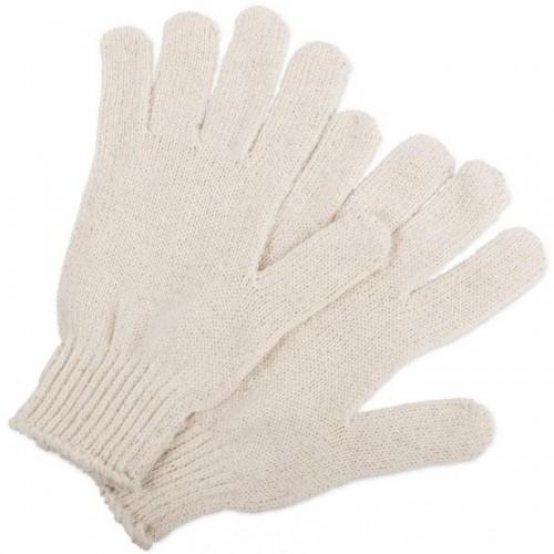 Перчатки хлопчатобумажные без ПВХ, трикотажные