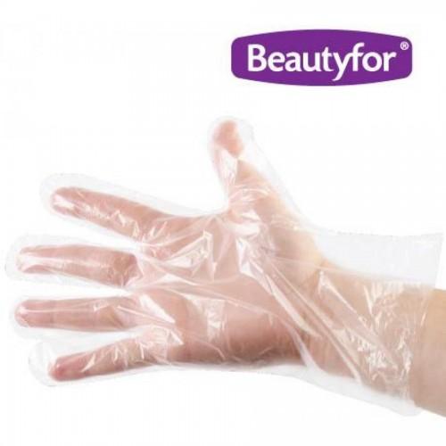 Перчатки одноразовые п/э, тонкие, 100 шт./уп, Beautyfor