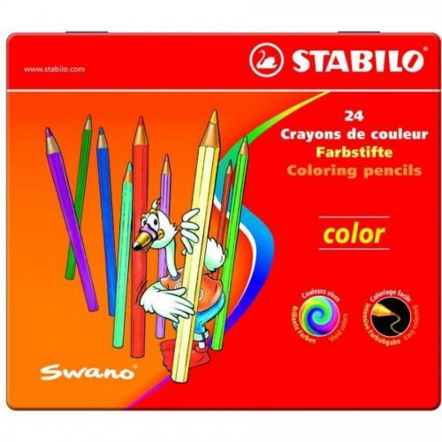"""Карандаши цветные наточенные Stabilo """"Color"""" 24 цв., металл. коробка (1812-24)"""