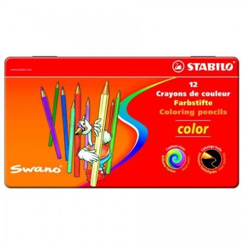 """Карандаши цветные наточенные Stabilo """"Color"""" 12 цв., металл. коробка (1812-77)"""