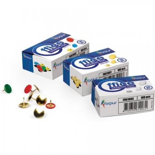 Кнопки-гвоздики , d9,5 мм, 100 шт., цветные