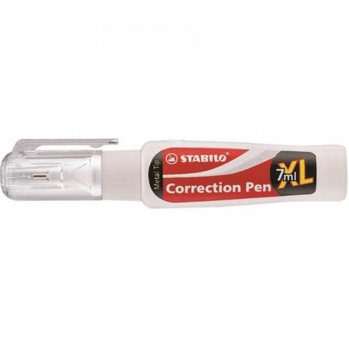 Корректирующая ручка Stabilo Swan white, 7мл (888PSBL)