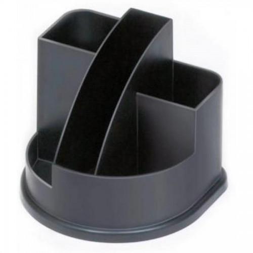 Органайзер настольный СТАММ ОР52 Авангард, пустой, черный