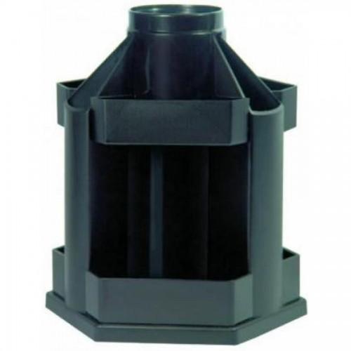 Органайзер настольный СТАММ ОР200 Maxi desk, вращающийся, пустой, черный