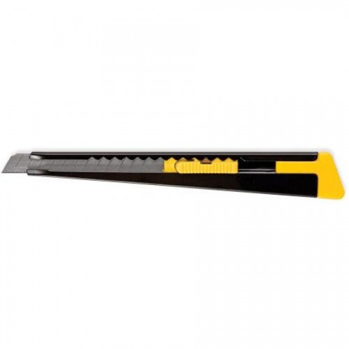 Нож канцелярский 9мм метал. корпус, ассорти