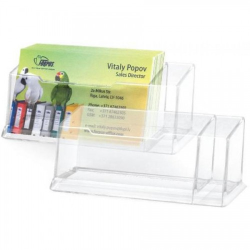 Подставка для визиток standart, пластик., прозрачный