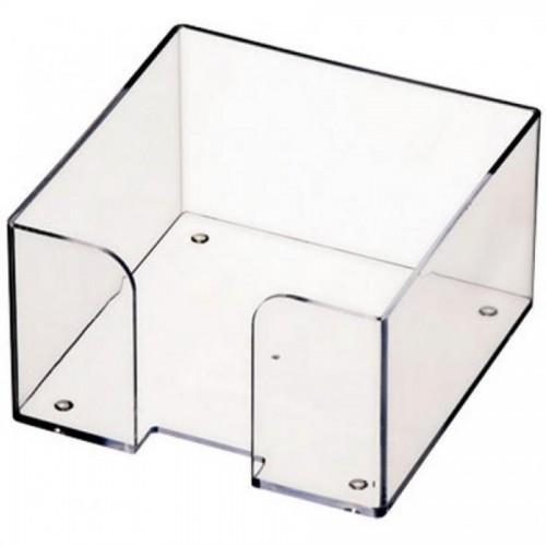 Подставка для блока бумаги СТАММ ПЛ61, 9х9х5, прозрачный