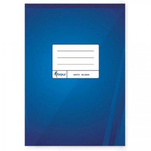 Блокнот перфорированный А5, 70л, клетка, синий