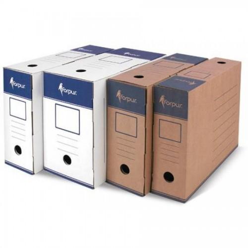 Коробка для документов А4, гофрокартон, крафт,80мм