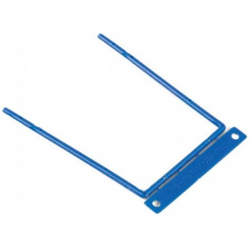 Зажим для документов пластиковый на металлической основе, 100 шт/уп