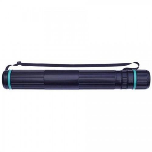 Тубус пластмассовый Стамм ПТ11 телескопический, d9см, 70-110 см, на ремне, черный