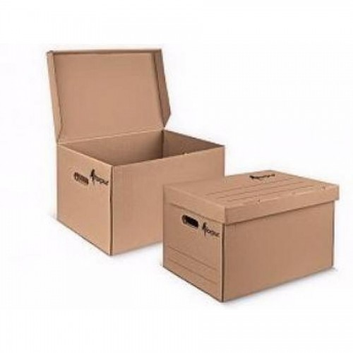 Коробка архивная 450х340х295 мм, с откидной крышкой, бурый