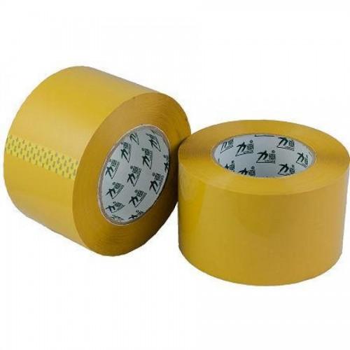 Лента клейкая упаковочная, 80мм х 200м, желтый