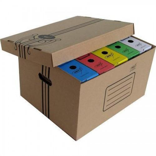 Коробка архивная KRIS АС-11, 460x365x265мм, со съемной крышкой, коричневый