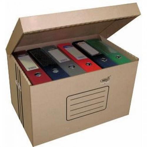 Коробка архивная KRIS АС-18, 500x330x310мм, с откидной крышкой, коричневый
