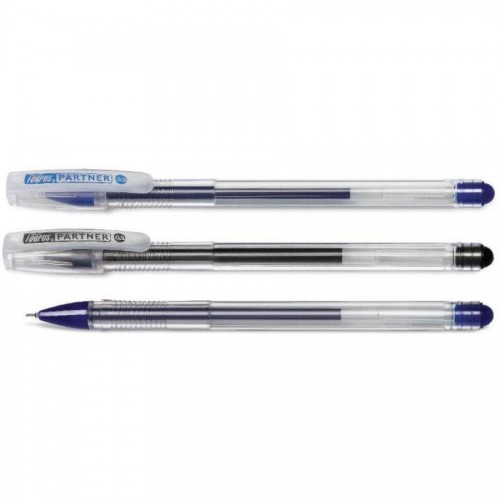 Ручка гелевая 0,5мм Partner, синий