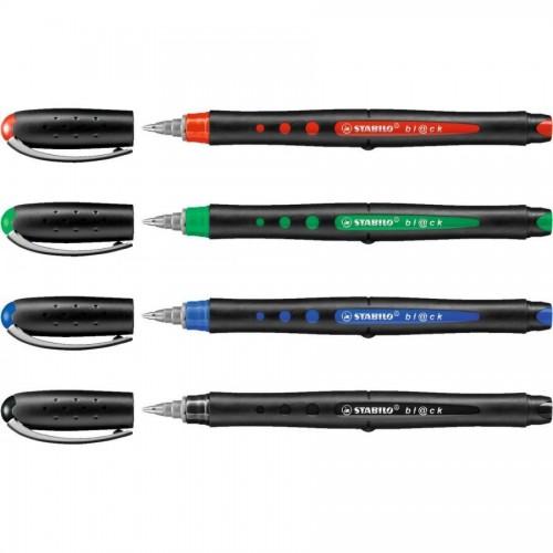 Ручка гелевая Stabilo BL@CK, 0,5 мм, зеленый (1018/36)