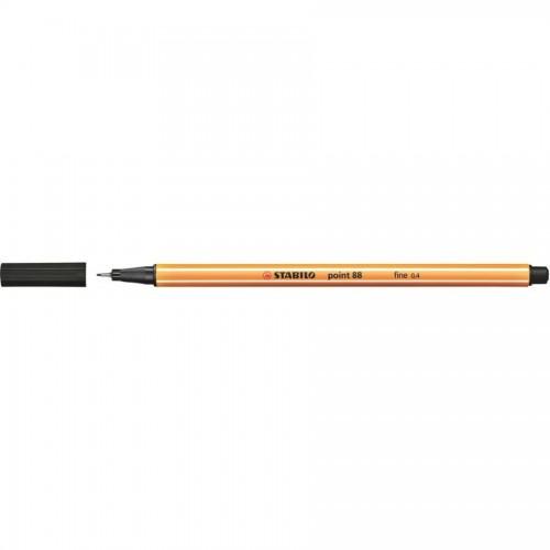 Ручка капилярная Stabilo point 88, 0,4 мм, черный (88/46)