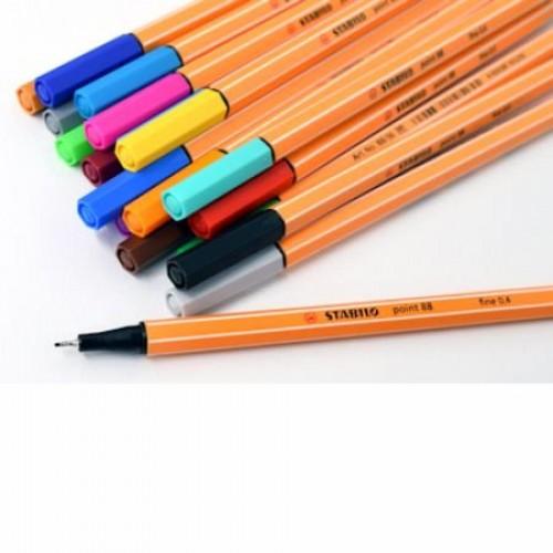 Ручка капилярная Stabilo point 88, 0,4 мм, голубой (88/57)
