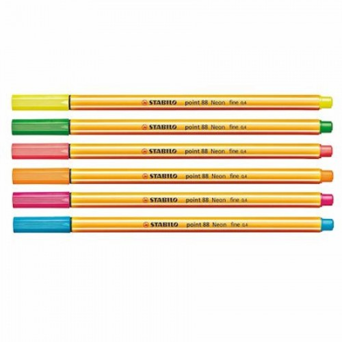 Набор капилярных ручек Stabilo point 88 Neon, 0,4 мм, 6 цветов (88/6-1)