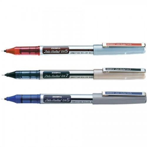 Ручка zeb-roller dx5. 0,5мм, красный
