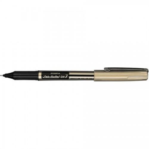 Ручка zeb-roller dx7. 0,7мм, черный