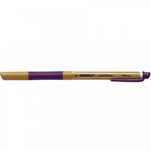 Ручка-роллер гелевая Stabilo Pointvisco 0,5мм, лиловый (1099/58)