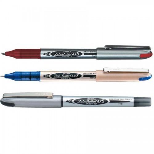 Ручка zeb-roller аx7. 0,7мм, черный