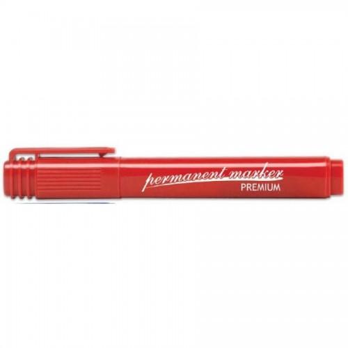 Маркер перманентный круглый 1-5мм, красный