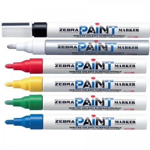 Маркер перманентный Zebra PAINT, черный