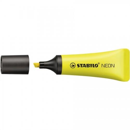 Маркер текстовый Stabilo NEON, 2-5мм, желтый (72/24)