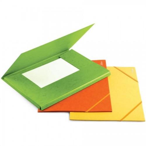 Папка д/бумаг А4 на резинке карт. 300г/м2, зеленый