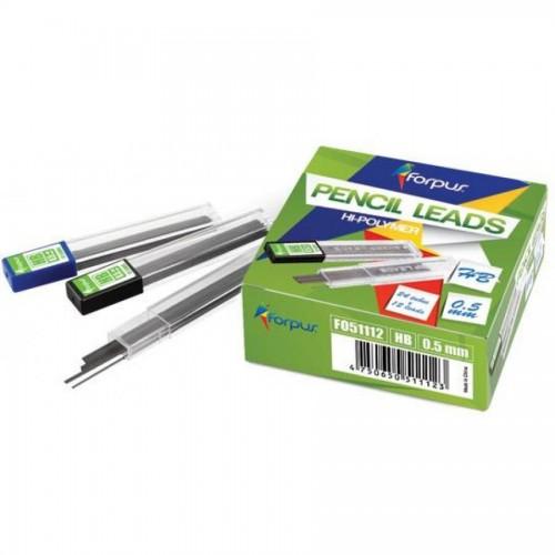 Грифели для мех. карандашей 0,5 мм, НВ, Hi-polymer