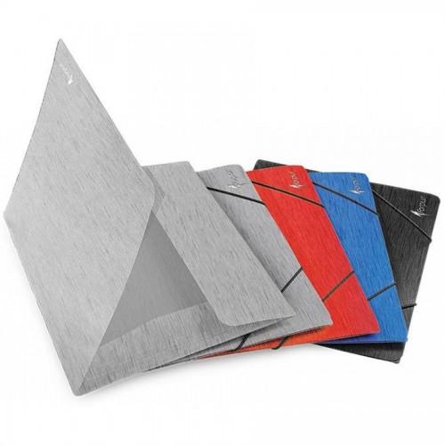 Папка для бумаг с резинками DUNE, А4, 0,5 мм, серый