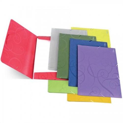 Папка для бумаг с резинками РР А4, Barocco, красный