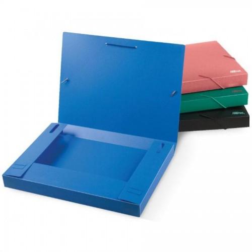 Папка д/бумаг А4 на резинке РР, 30мм, синий