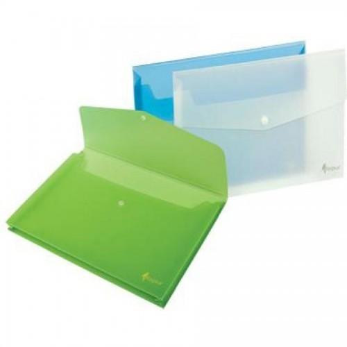 Папка-конверт на кнопке А4, 1-150л., зеленый