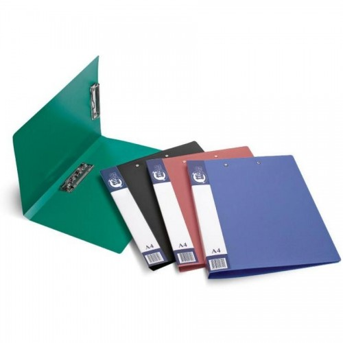 Папка для бумаг с 2-мя прижимами РР А4, зеленый