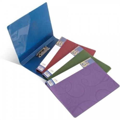 Папка для бумаг с прижимом BAROCCO РР А4, 600мк, синий
