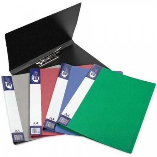 Папка для бумаг с прижимом РР А4, синий