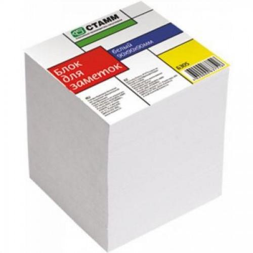 Бумага д/заметок СТАММ БЗ 05, 9х9х9 см, сменный блок, белый