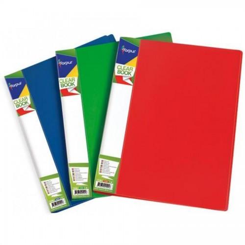 Папка с 10 карманами А4, красный