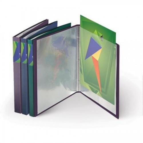 Папка с 20 карманами А4, METALLIC, 0,75мм, фиолетовый металлик