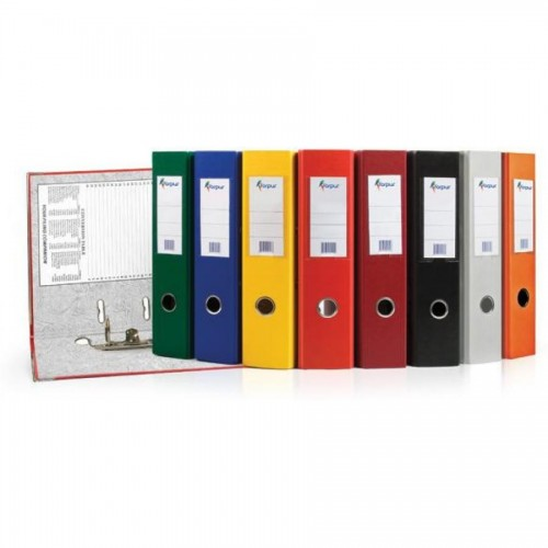"Папка-регистратор ""Eco"" А4 с бок. карманом, 70мм, желтый"