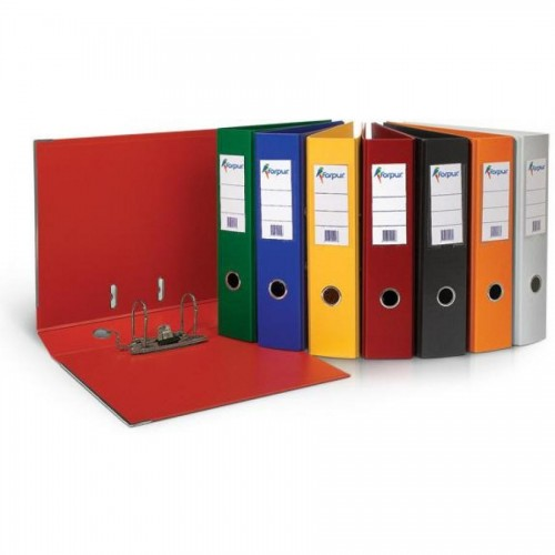 Папка-регистратор А4 с бок. карман, 70 мм, красный