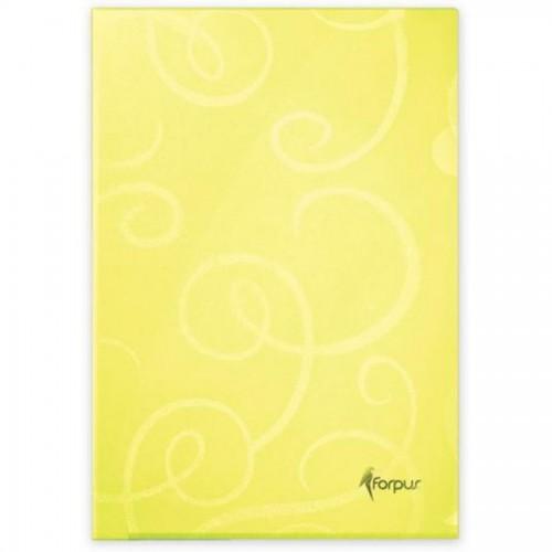 Папка-уголок BAROCCO, А4 80мк, лимон