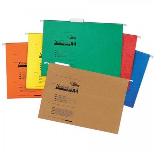 Папка подвесная для бумаг А4, желтый